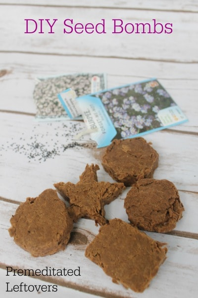 DIY Seed Bombs Tutorial - Use this DIY Seed bomb recipe to make Wildflower Seed Bombs or to make flower seed bombs as gifts or wedding favors.