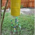 upcycled wind chimes