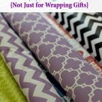 Using Wrapping Paper to Cover Tables – Frugal Table Decor Ideas