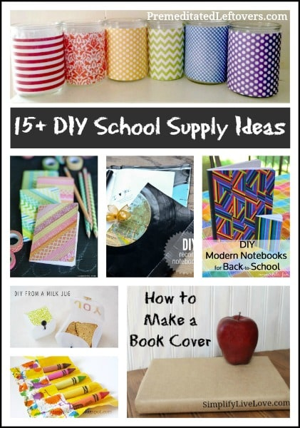 15 diy school supply ideas for School diy ideas