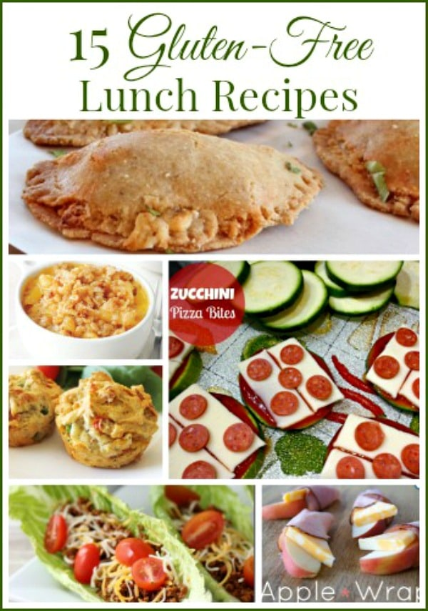 15 Gluten-Free Lunch Recipes for Back to School - Need inspiration as you pack gluten-free lunches? Here are 15 gluten-free lunch ideas to get you started.