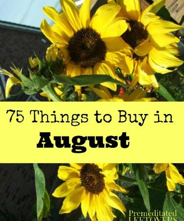 75 Things to buy in August - A list of items that are on sale or clearance in August.