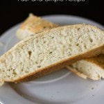 Fast and Easy Rustic French Bread Recipe - ready in an hour!