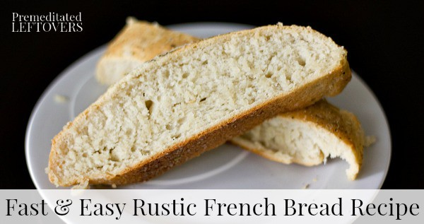 Rustic French Bread Recipe - simple recipe with tutorial