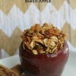 Cinnamon Oatmeal Baked Apple Recipe