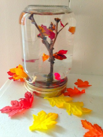 How to Make a Maple Tree Leaf Globe - A frugal fall craft for kids