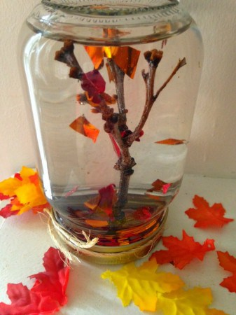 How to Make a Fall Tree Leaf Globe