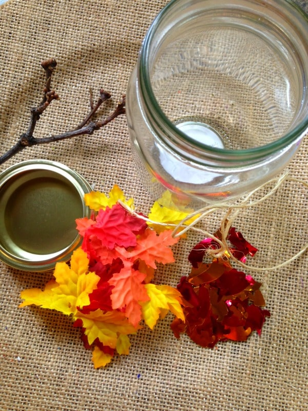 Items needed to make a Maple Tree Leaf Globe