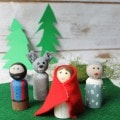 little red riding hood peg dolls