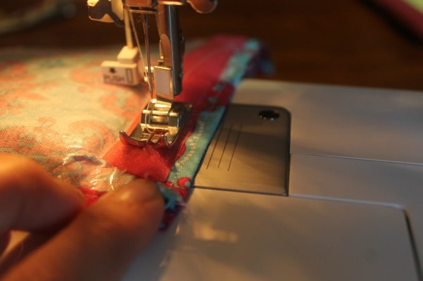 DIY Pencil Pouch Tutorial sewing on velcro
