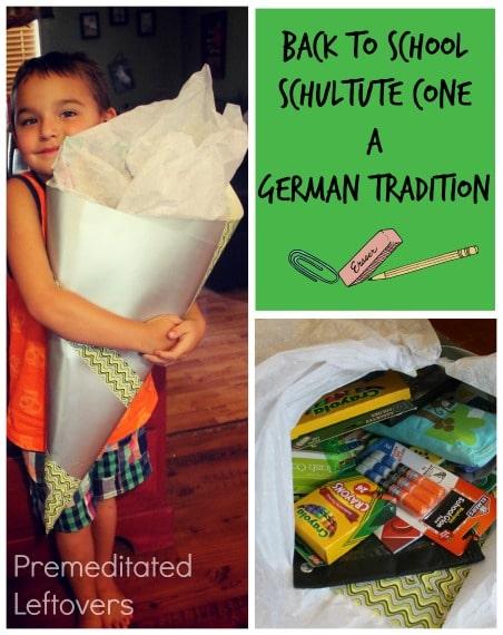back to school schultute cone- a german tradition