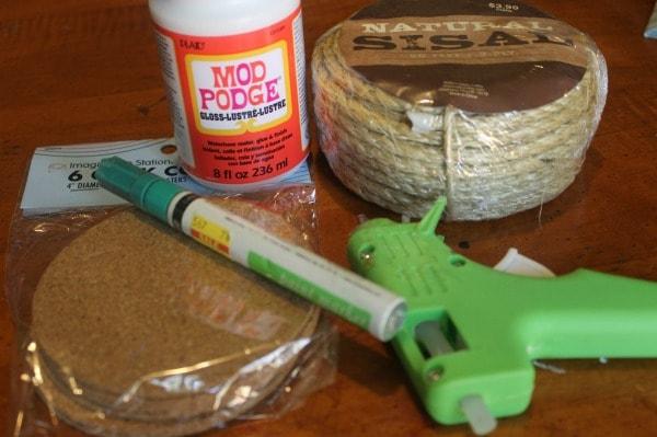 DIY Sisal Rope Coasters