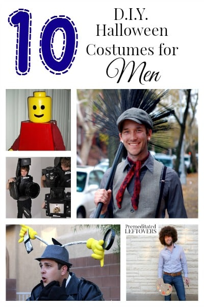 Looking for DIY Halloween Costumes for men? Here are 10 awesome, funny and unique ones you can do right at home, some of them very last minute!