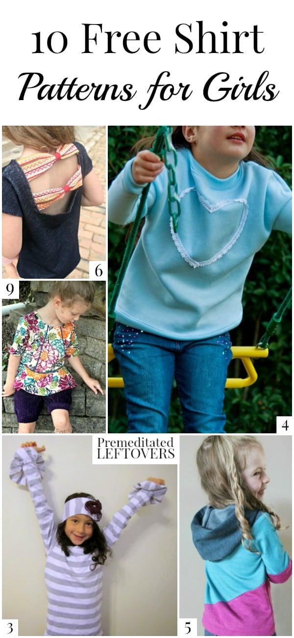 10 Free Shirt Patterns For Girls