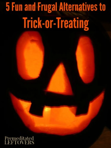 5 Fun and Frugal Alternatives to Trick-or-Treating. You can enjoy Halloween without going door to door for candy. Give one of these fun ideas a try instead.