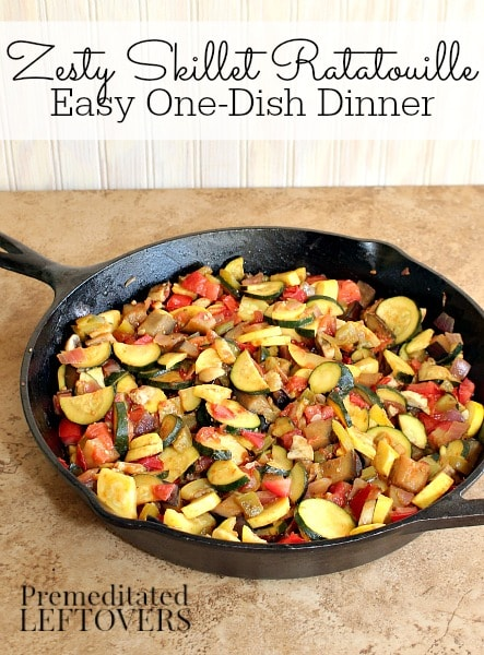 Cast Iron Skillet Ratatouille Recipe - easy one-dish dinner recipe