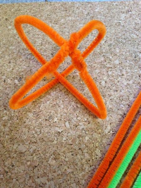 DIY Cheniile Pumpkins Step 2
