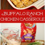 Easy Buffalo Ranch Chicken Casserole with Tater Tots and Cheese