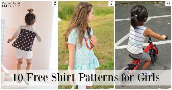 There are so many adorable free shirt patterns for girls out there! These free shirt patterns include patterns for varying levels of sewing skills.