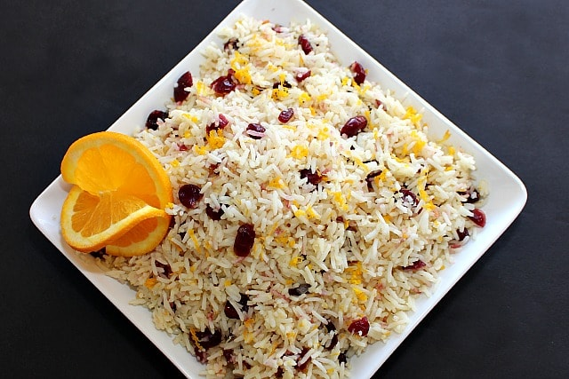 Orange Rice Recipe with Cranberries