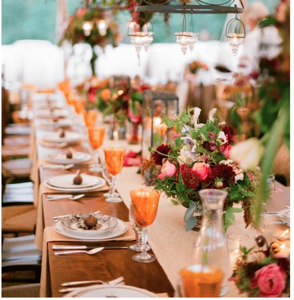 Southern Fall Wedding Decor Ideas