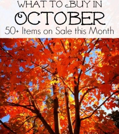 What to Buy in October - 50 Items on sale this month