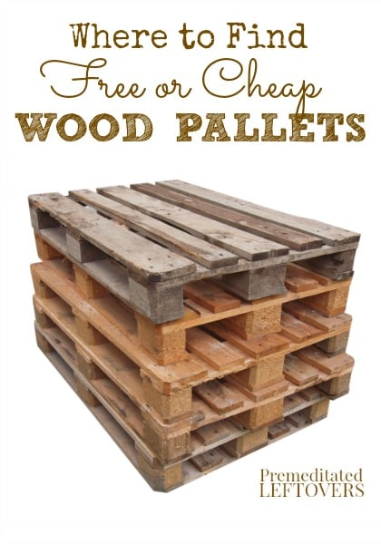 Where to find free or cheap wood pallets for Where can i find inexpensive furniture