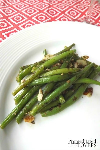 Pesto Green Beans with Sliced Almonds