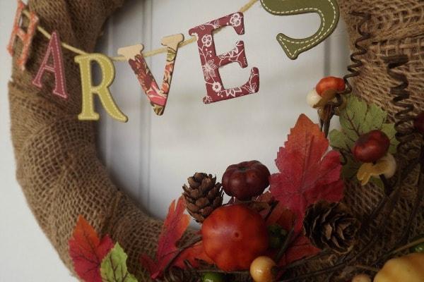 DIY Fall Harvest Wreath