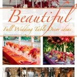 6 Beautiful Fall Wedding Table Decor Ideas
