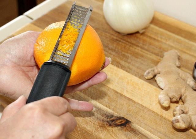 grating orange for Orange Rice