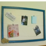 DIY Picture Frame Memo Board Tutorial