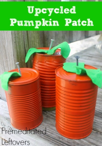 Rustic Tin Can Pumpkins An Upcycled Diy Projec