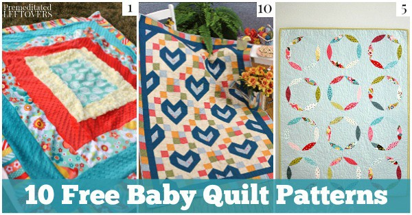 Here are 10 free Baby Quilt Patterns to get you started whether you are looking to make a handmade baby shower gift or a quilt for your own baby.
