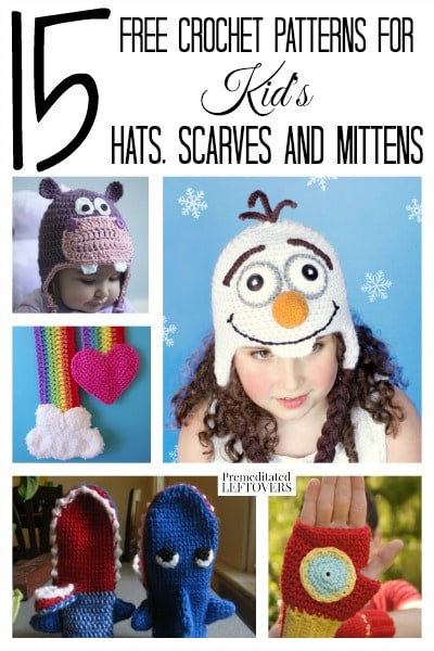 15 Free Crochet Patterns For Kids Hats Scarves And Mittens