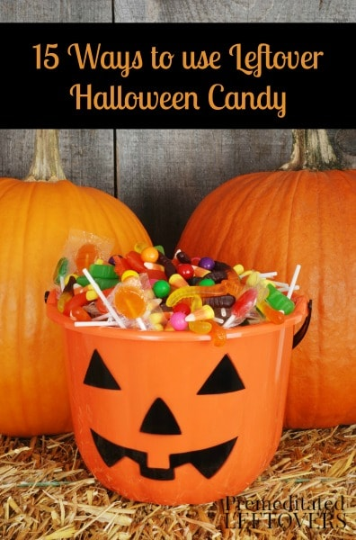 15 Ways to Use Leftover Halloween Candy - Here are some ideas for dealing with all the excess Halloween candy including donating it and re-purposing it.
