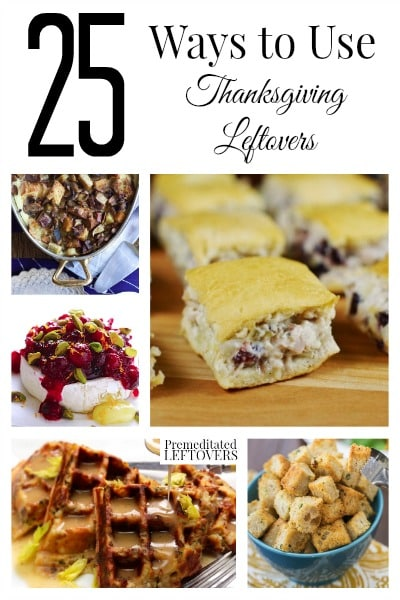 Do you have lots of leftovers? Here are 25 ways to use Thanksgiving leftovers including leftover turkey, mashed potatoes, stuffing, cranberry sauce & more!