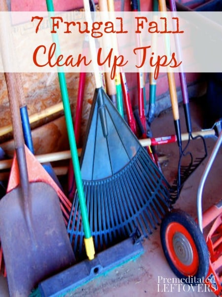 Get your gardens & yard looking tidy with these 7 Frugal Fall Yard Clean Up Tips a try. Use these frugal tips to easily get your yard ready for spring now.