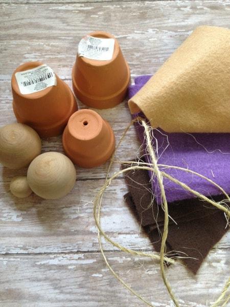 DIY Flower Pot Nativity Set items needed