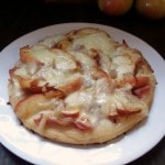 Savory Apple Pizza- This recipe is a great savory way to use fresh apples this fall. Load it with ham and Havarti cheese and serve as a dinner or appetizer.