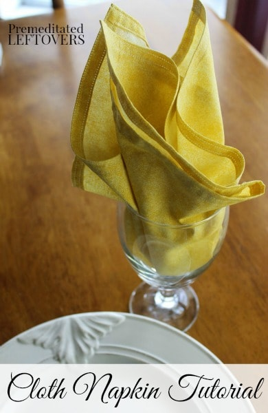 Simple DIY Cloth Napkin Tutorial