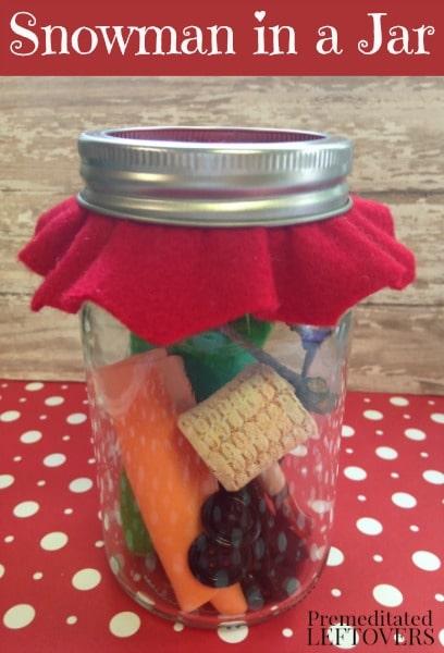 Snowman in a Jar - Fun Gift Idea for Kids