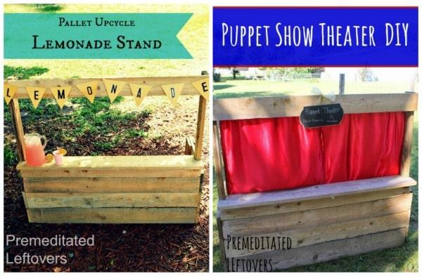 DIY Wood Pallet Puppet Theater Tutorial