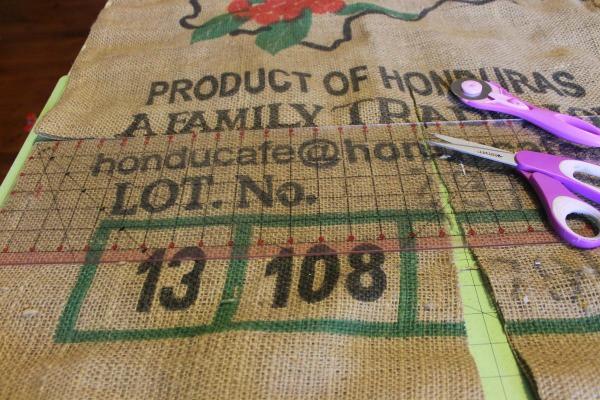 how to make a burlap coffee sack purse
