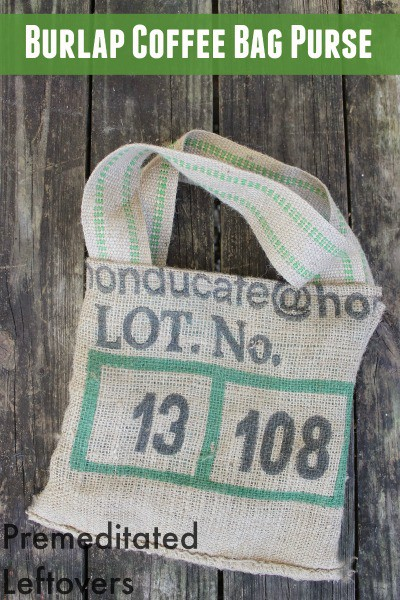 If you are looking for a way to reuse burlap coffee bags, follow this simple tutorial to make an burlap coffee bag purse.