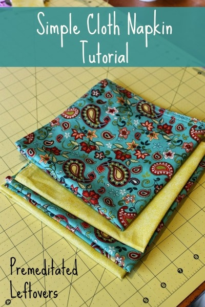 Simple Cloth Napkin Tutorial