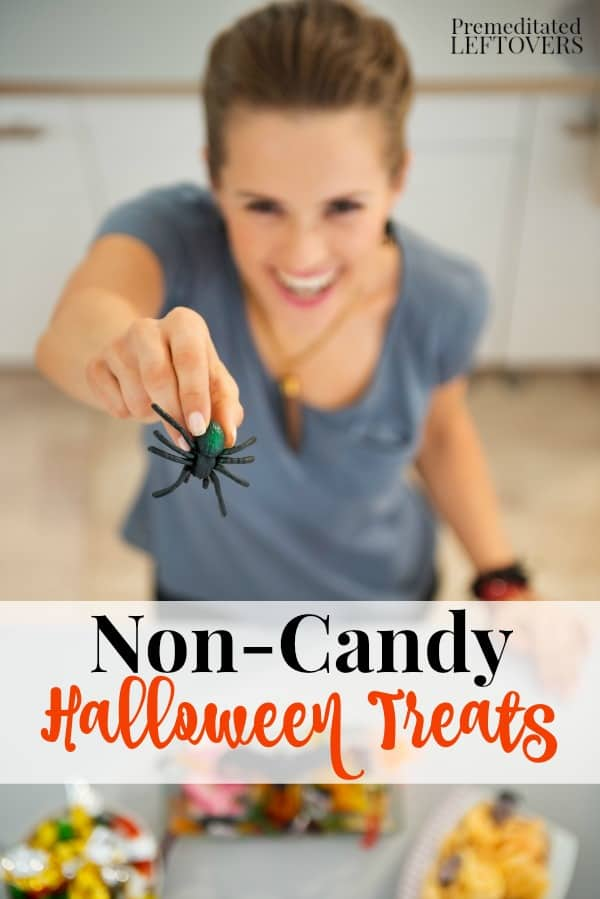 7 Non-Candy Halloween Treat Alternatives - Trying to avoid sugar? Here are 7 non-candy alternatives that are perfect for trick or treaters, classroom parties, or just to give your own kids.