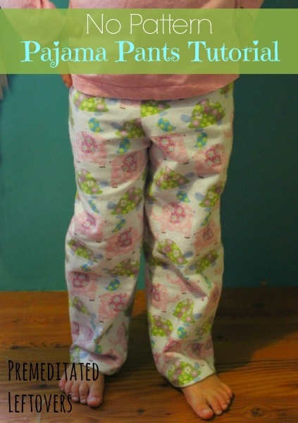 Follow this simple tutorial for No Pattern Pajama Pants to make comfortable pajama pants using your favorite pajamas as a pattern.
