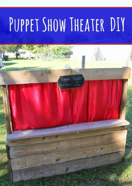 DIY Wood Pallet Puppet Theater Tutorial