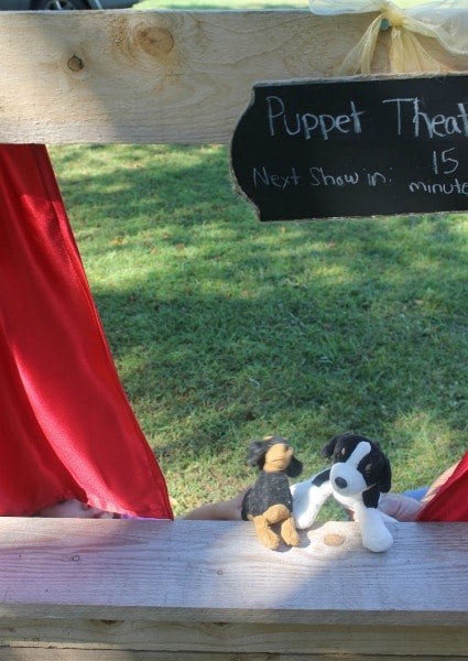 Puppet Theater Chalkboard Sign